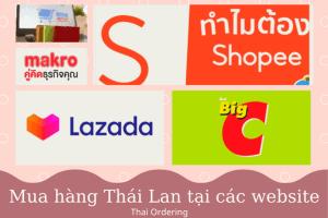 Các trang website mua hàng Thái Lan trực tuyến